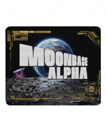 Moonbase Alpha PC Computer Mouse Mat Pad from Vintage Scifi Series Space 1999